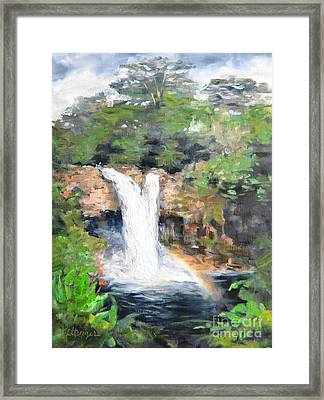 Synchronicity Framed Print by Lori Pittenger