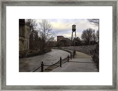 Syracuse Creekwalk Framed Print by Everet Regal