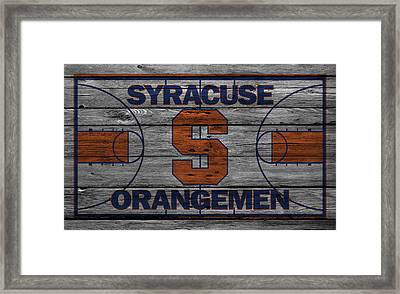 Syracuse Orangemen Framed Print by Joe Hamilton