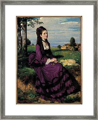 Szinyei Merse Pal, Portrait Of A Woman Framed Print by Everett
