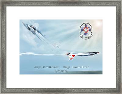 T-38 Teammates Framed Print by Peter Chilelli