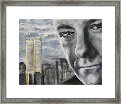 T And The Wtc Framed Print by Eric Dee