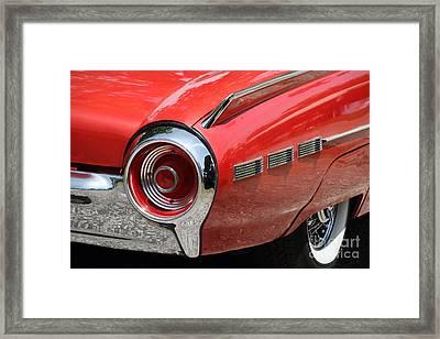 T-bird Tail Framed Print by Dennis Hedberg