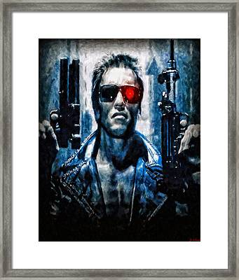 T800 Terminator Framed Print by Joe Misrasi