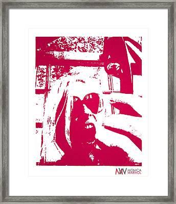 Ta Ta Telephone Framed Print by Monica Warhol