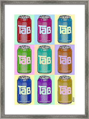 Tab Ode To Andy Warhol Repeat Framed Print by Tony Rubino