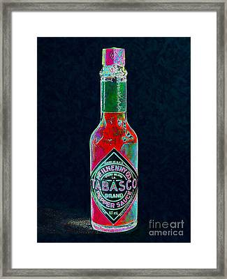 Tabasco Sauce 20130402 Framed Print by Wingsdomain Art and Photography