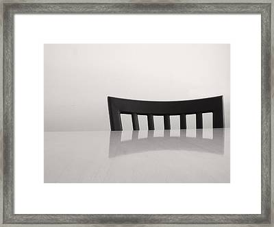 Table And Chair Framed Print by Don Spenner