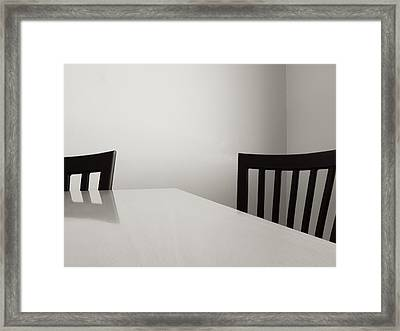Table And Chairs Framed Print by Don Spenner