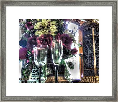 Table Arrangement Framed Print by Cathy Jourdan