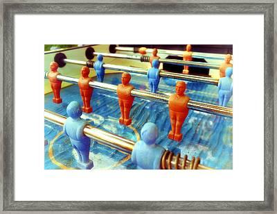 Table Football Framed Print by Fabrizio Troiani