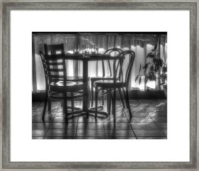 Table For Four Framed Print by Nikolyn McDonald