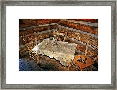 Table For Three Framed Print by Marty Koch