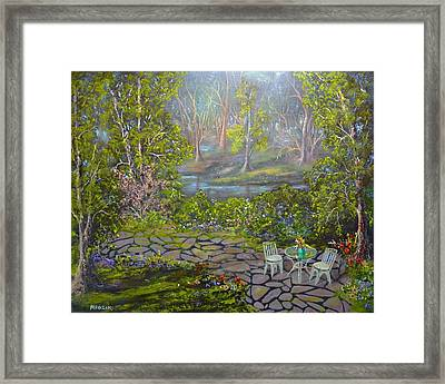 Table For Two Framed Print by Michael Mrozik