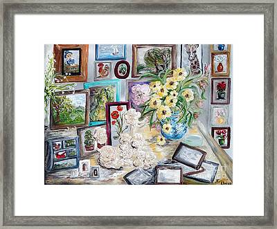 Table Of An Art Enthusiast Framed Print by Eloise Schneider