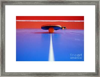 Table Tennis Framed Print by Michal Bednarek