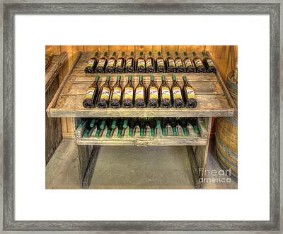 Table Wine Framed Print by Bob Hislop