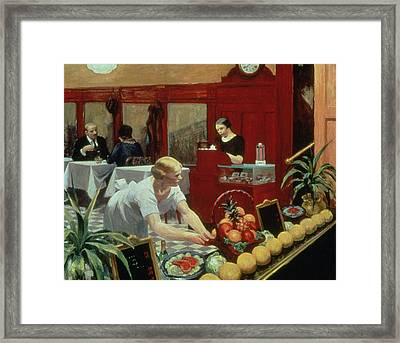Tables For Ladies Framed Print by Edward Hopper