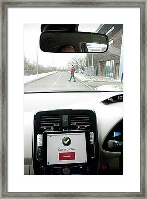 Tablet Interface Of The Robotcar Framed Print by John Cairns/oxford University Images