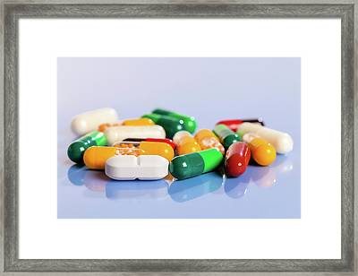 Tablets And Capsules Framed Print by Wladimir Bulgar