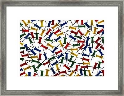 Tacks Framed Print by Adrian Campfield