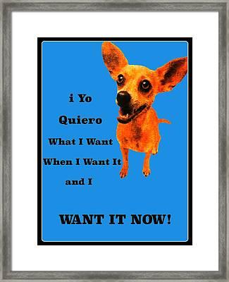 Taco Bell Dog Framed Print by Jim Markiewicz