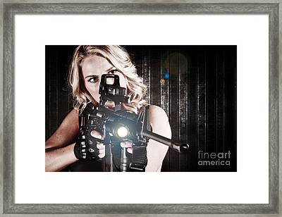 Tactical Woman Framed Print by Jt PhotoDesign