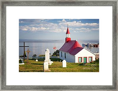 Tadoussac Chapel Framed Print by Jane Rix