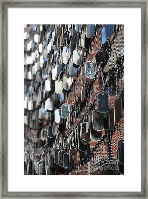 Tags Framed Print by DJ Florek