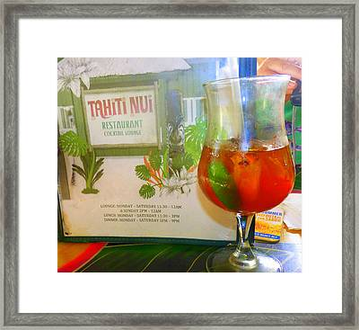 Tahiti Nui Framed Print by Kris Hiemstra