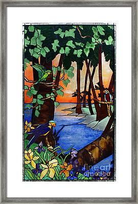 Tahiti Window Framed Print by Peter Piatt