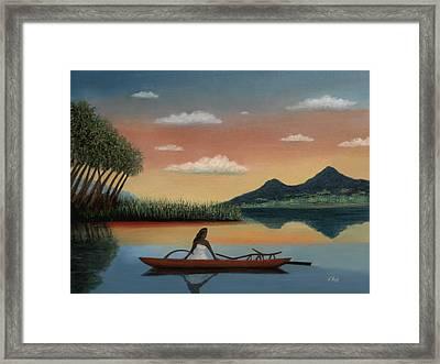 Tahitian Morning Framed Print by Gordon Beck