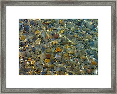 Tahoe Texture Framed Print by Michael Blesius