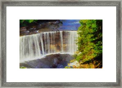 Tahquamenon Falls Painting Framed Print by Dan Sproul