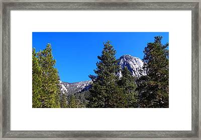 Tahquitz Rock - Lily Rock Framed Print by Glenn McCarthy