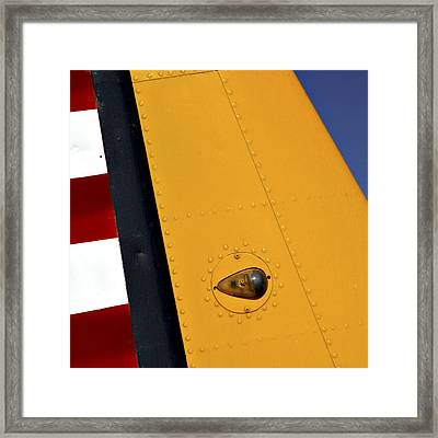 Tail Detail Of Vultee Bt-13 Valiant Framed Print by Carol Leigh