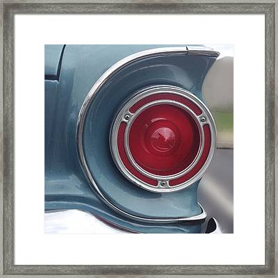 Tail Light Ford Falcon 1961 Framed Print by Don Spenner