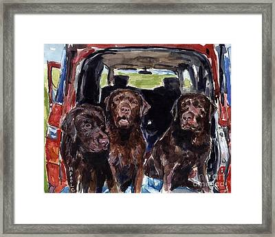 Tailgaters Framed Print by Molly Poole