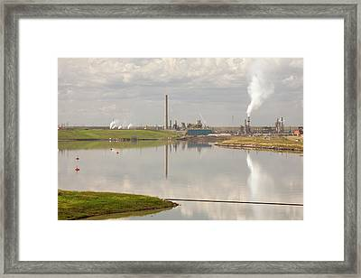 Tailings Pond Syncrude Tar Sands Mine Framed Print by Ashley Cooper