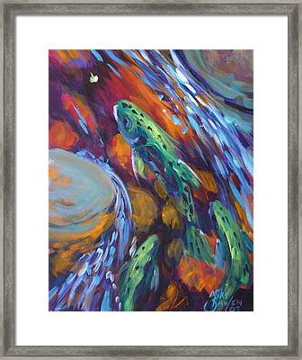 Tailwater Take II Framed Print by Savlen Art