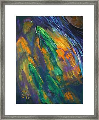 Tailwater Take Framed Print by Savlen Art