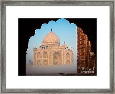 Taj Mahal Dawn Framed Print by Inge Johnsson