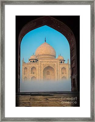 Taj Mahal From Jawab Framed Print by Inge Johnsson