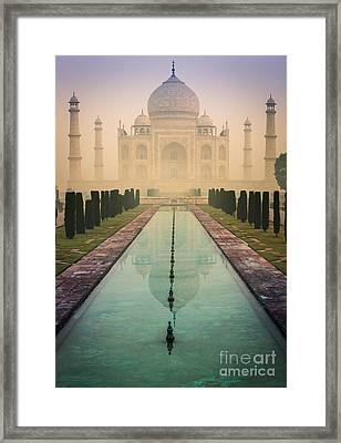 Taj Mahal Predawn Framed Print by Inge Johnsson