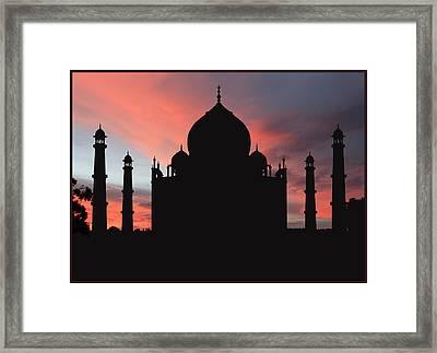 Taj Mahal Silhouette Framed Print by Kim Andelkovic