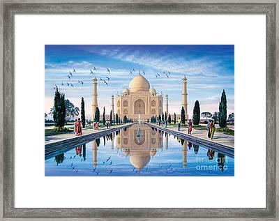 Taj Mahal Framed Print by Steve Crisp