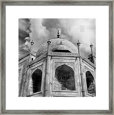 Taj Mahal Fantastic Upward View Framed Print by Retro Images Archive