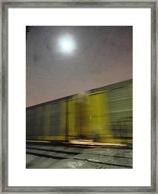 Take A Fast Train Framed Print by Guy Ricketts