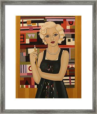 Take Her Seriously Framed Print by Stephanie Cohen
