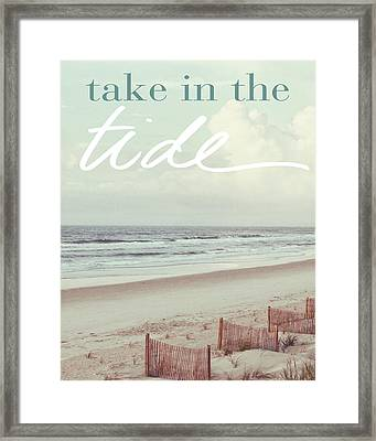 Take In The Tide Framed Print by Kathy Mansfield